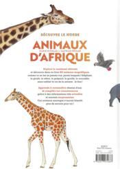 Découvre le monde ; animaux d'Afrique - 4ème de couverture - Format classique