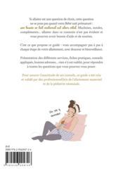 Guide d'allaitement du prématuré - 4ème de couverture - Format classique