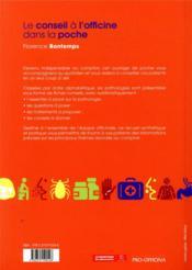 Le conseil a l'officine dans la poche, 12e edition - 4ème de couverture - Format classique