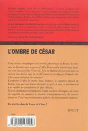 Alix t.3 ; l'ombre de César - 4ème de couverture - Format classique