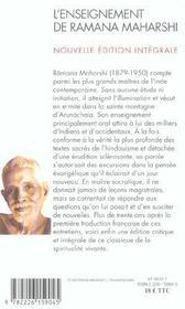 L'enseignement de ramana maharshi - nouvelle edition integrale - 4ème de couverture - Format classique