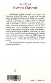 St-gilles à contes découvert - 4ème de couverture - Format classique