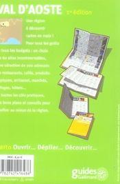 Val d'aoste - 4ème de couverture - Format classique