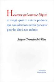 Heureux qui comme ulysse et vingt-quatre autres poemes - Couverture - Format classique