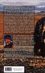 Dans les pas de l'ours ; une traversée solitaire de l'alaska sauvage - 4ème de couverture - Format classique