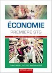 Économie ; 1ère STG ; manuel de l'élève - Couverture - Format classique