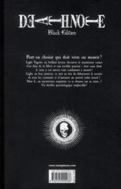 Death note - black edition T.3 - 4ème de couverture - Format classique