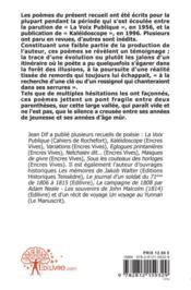 L'Aile De La Cendre - 4ème de couverture - Format classique