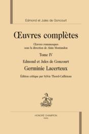 Oeuvres complètes t.4 : Germinie Lacerteux - Couverture - Format classique