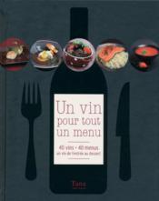Un vin pour tout un menu - Couverture - Format classique