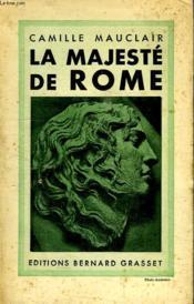 La Majeste De Rome. - Couverture - Format classique