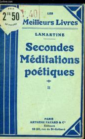 Secondes Meditations Poetiques - Tome 2 - Couverture - Format classique