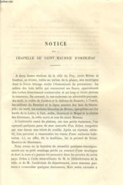 NOTICE SUR LA CHAPELLE DE SAINT-MAURICE D'ORZILHAC / UNE SEDITION A PRADELLES - RAPPORT SUR UNE DECOUVERTE D'ANTIQUITES ROMAINES A VOREY - TESTAMENT DE CLAUDE-YVES MARQUIS D'ALEGRE (6 novembre 1664) - Couverture - Format classique