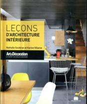 Leçons d'architecture intérieure - Couverture - Format classique