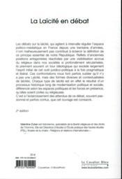 La laïcité en débat ; au-delà des idées reçues (2e édition) - 4ème de couverture - Format classique