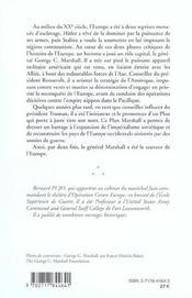 Le general george marshall - 4ème de couverture - Format classique