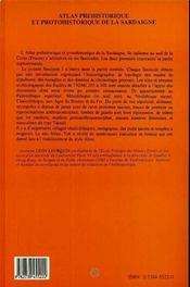 Atlas préhistorique et protohistorique de la Sardaigne t.3 - 4ème de couverture - Format classique