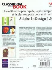 Adobe Indesign 1.5 Ciab - 4ème de couverture - Format classique