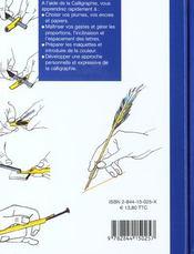 La calligraphie ; 101 astuces - 4ème de couverture - Format classique