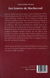 Les louves de Machecoul - 4ème de couverture - Format classique