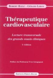 Therapeutique Cardiovasculaire 3ed - Couverture - Format classique