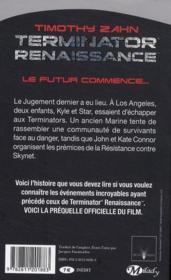 Terminator - renaissance ; sous les cendres - 4ème de couverture - Format classique