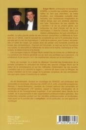 Edgar Morin, sociologue de la complexité - 4ème de couverture - Format classique