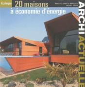 20 maisons à économie d'énergie - Couverture - Format classique