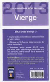 Vierge 2013 - 4ème de couverture - Format classique