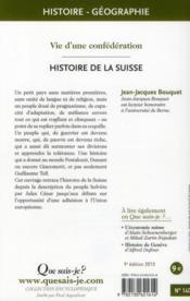 Histoire de la Suisse (9e édition) - 4ème de couverture - Format classique