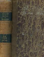JURISPRUDENCE GENERALE - REPERTOIRE METHODIQUE ET ALPHABETIQUE DE LEGISLATION DE DOCTRINE DE JURISPRUDENCE - DROIT CIVIL-COMMERCIAL-CRIMINEL-ADMINISTRATIF-DROIT DES GENS-DROIT PUBLIC - TOME 34 - 2ème PARTIE - Couverture - Format classique