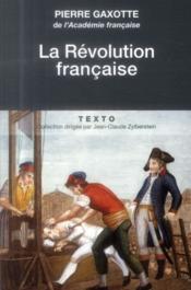 La révolution française - Couverture - Format classique