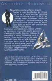Alex Rider T.2 ; pointe blanche - 4ème de couverture - Format classique