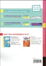 MICROMEGA ; physique-chimie ; 4e ; livre de l'élève (édition 2017) - 4ème de couverture - Format classique