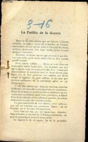 L'AVENIR - extrait de MARS 1916 /