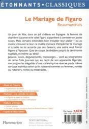 Le mariage de Figaro - 4ème de couverture - Format classique