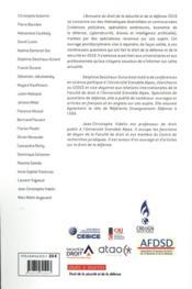 Annuaire 2020 du droit de la sécurité et de la défense - 4ème de couverture - Format classique