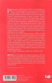 Renverser ciel et terre ; la tragédie de la Révolution culturelle : Chine, 1966-1976 - 4ème de couverture - Format classique