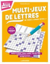 Multi-jeux de lettres - Couverture - Format classique