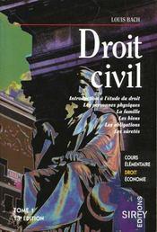 Droit Civil T.1. - Intérieur - Format classique