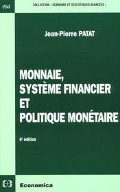 Monnaie systeme financier et politique monetaire - Intérieur - Format classique