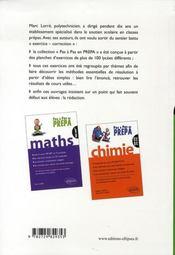 Chimie pc-pc* ; essentiel du cours, méthodes pour bien aborder les exercices, solutions rédigées - 4ème de couverture - Format classique