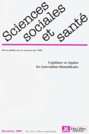Revue Sciences Sociales Et Sante N.18-4 - Couverture - Format classique