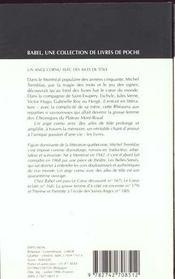 Un Ange Cornu Avec Des Ailes De Tole Babel 221 - 4ème de couverture - Format classique