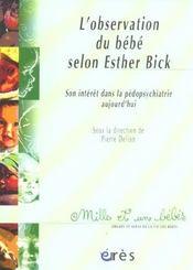 1001 bb 066 - l'observation du bebe selon esther bick - Intérieur - Format classique