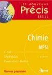 Chimie ; MPSI - Intérieur - Format classique
