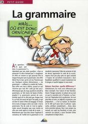 Petit Guide T.130 ; La Grammaire - Intérieur - Format classique