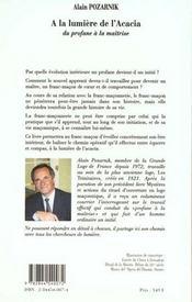 Lumiere De L'Acacia (A La) - 4ème de couverture - Format classique