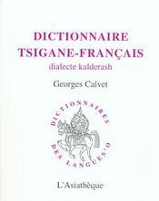 Dictionnaire tsigane-francais - dialecte kalderash - Intérieur - Format classique