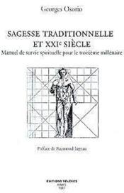 Sagesse traditionnelle et xxi s. - Couverture - Format classique